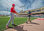 11 March 2016: Baseball photographer Steve Moore poses a player prior to a Spring Training pre-season game between the Philadelphia Phillies and the Atlanta Braves at Champion Stadium in the ESPN Wide World of Sports Complex in Kissimmee, Florida. The Phillies defeated the Braves 9-2 in Grapefruit League play. Mandatory Credit: Ed Wolfstein Photo *** RAW (NEF) Image File Available ***