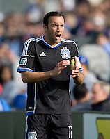 Ramiro Corrales of Earthquakes in action during the game against Whitecaps at Buck Shaw Stadium in Santa Clara, California on April 7th, 2012.  San Jose Earthquakes defeated Vancouver Whitecaps, 3-1.