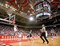 Arkansas Razorbacks vs Vanderbilt Commodores in basketball on January 14, 2006 at Bud Walton Arena in Fayetteville, Arkansas.  Arkansas wins 78 to 66.