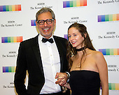 Actor Jeff Goldblum and his wife, Emilie Livingston, arrive for the formal Artist's Dinner honoring the recipients of the 39th Annual Kennedy Center Honors hosted by United States Secretary of State John F. Kerry at the U.S. Department of State in Washington, D.C. on Saturday, December 3, 2016. The 2016 honorees are: Argentine pianist Martha Argerich; rock band the Eagles; screen and stage actor Al Pacino; gospel and blues singer Mavis Staples; and musician James Taylor.<br /> Credit: Ron Sachs / Pool via CNP