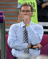 FUSSBALL  EUROPAMEISTERSCHAFT 2012   VIERTELFINALE Spanien - Frankreich      23.06.2012 Trainer Laurent Blanc (Frankreich)
