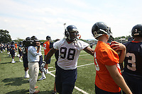 Virginia defensive tackle Nate Collins during open spring practice for the Virginia Cavaliers football team August 7, 2009 at the University of Virginia in Charlottesville, VA. Photo/Andrew Shurtleff