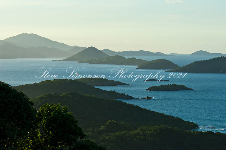 Looking out towards Thatch Cay and <br />