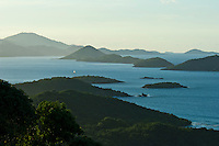 Looking out towards Thatch Cay and <br /> St. Thomas from St. John<br /> U.S. Virgin Islands