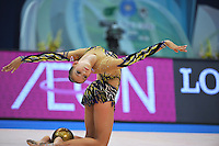 September 9, 2009; Mie, Japan;  Daria Dmitrieva of Russia performs with ball during Event Final to place 4th at 2009 World Championships Mie. Photo by Tom Theobald.