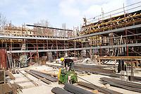 Rome March 5 2007  .Construction of new market in Via Andrea Doria.Worker to the job .RomaA 5 Marzo 2007.Il cantiere del nuovo mercato in Via Andrea Doria .Operaio al lavoro