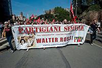 Roma 25 Aprile 2014<br /> Manifestazione per il 69&deg; anniversario della liberazione dal Nazifascismo<br /> Roma 25 April 2014. <br /> Demonstration for the 69th anniversary of liberation from Nazi-fascism
