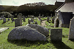 St Levans Stone. Cornwall England. <br /> Little is know of Saint Levan he was a 6th or 7th century Celt. Legands associated with stone  however probably a moot stone originally.
