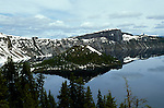 OR:  Oregon; Crater Lake National Park, scenic landscape, view from South side of Crater Lake         .Photo Copyright Lee Foster, lee@fostertravel.com, www.fostertravel.com, (510) 549-2202.Image orcrat212