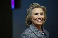 Former US Secretary of State Hillary Clinton smiles as she arrives for a press conference about her personal email account at United Nations Headquarters in New York. 10.03.2015. Eduardo Munoz Alvarez/VIEWpress.