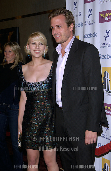 Actress SCARLETT JOHANSSON & actor GABRIEL MACHT at the Hollywood Film Festival premiere of their new movie A Love Song for Bobby Long..October 17, 2004