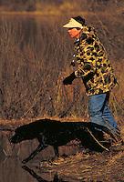 RETRIEVER FIELD TRIALS. BOMBAY HOOK NAT. WILDLIFE REFUGE DELAWARE USA.