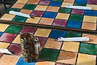 Colorful Tiled Table Setting