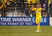 24 APRIL 2010:  Frankie Hejduk of the Columbus Crew(2) during the Real Salt Lake at Columbus Crew MLS soccer game in Columbus, Ohio. Columbus Crew defeated RSL 1-0 on April 24, 2010.