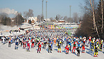 Participants in Tartu Cross Country Ski Marathon, Valga County, Estonia