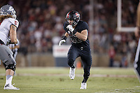 Stanford, Ca - October 8, 2016: Casey Toohill during the Stanford vs. Washington State game Saturday night at Stanford Stadium. <br /> <br /> Washington State won 42-16.