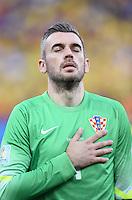 FUSSBALL WM 2014  VORRUNDE    Gruppe A    12.06.2014 Brasilien - Kroatien Ivan Rakitic (Kroatien) bei der Nationalhymne