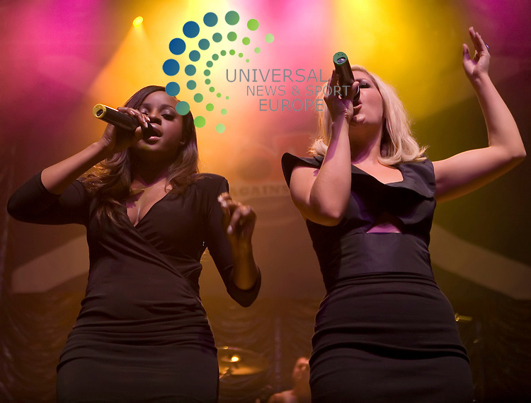 Sugababes Heidi and Keisha play as a twosome at the Rock Against Racism gig at the Glasgow O2 Academy on 9th September 2009..Picture: Peter Kaminski/Universal News and Sport (Scotland)
