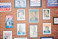 Vintage campaign posters at New Hampshire Institute of Politics - Saint Anselm College - Manchester,