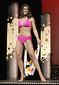 12 July, 2008:   Miss Tahoma and 2008 Miss Washington winner Janet Harding shows off her swim wear in the Physical Fitness in Swim wear competition on stage during the 2008 Miss Washington pageant at the Pantages Theater in Tacoma , Washington.  Miss Tahoma Janet Harding won the title of Miss Washington.