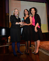 NEW YORK, NY - APRIL 3: Heather Grady, Mecca Santana, Elinor Tatum pictured as David N. Dinkins, 106th Mayor of the City of New York, receives the Dr. Phyllis Harrison-Ross Public Service Award for a lifetime of public service at the New York Society of Ethical Culture in New York City on April 3, 2014. Credit: Margot Jordan/MediaPunch