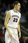 Gonzaga's Kyle Wiltjer (33) in a game against Iowa during the 2015 NCAA Division I Men's Basketball Championship's March 22, 2015 at the Key Arena in Seattle, Washington.   Gonzaga beat Iowa 87-67 to advance to the Sweet 16.    ©2015. Jim Bryant Photo. ALL RIGHTS RESERVED.