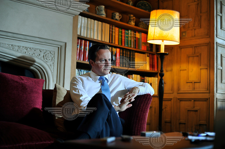 David Cameron talks about cuts and the spending review at Chequers, the Prime Minister's country residence in Buckinghamshire.
