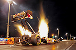 Jan. 18, 2012; Jupiter, FL, USA: NHRA top fuel dragster driver Kahalid Albalooshi during testing at the PRO Winter Warmup at Palm Beach International Raceway. Mandatory Credit: Mark J. Rebilas-