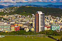 Skyline of Wellington, the capital of New Zealand