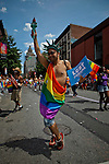 Revellers take part in the Gays Pride Parade in New York. June 24, 2012. Photo by Eduardo Munoz Alvarez / VIEW..