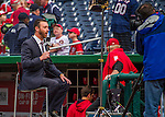 7 April 2016: MASN on-field reporter Dan Kolko updates the fans prior to the Nationals' Home Opening Game against the Miami Marlins at Nationals Park in Washington, DC. The Marlins defeated the Nationals 6-4 in their first meeting of the 2016 MLB season. Mandatory Credit: Ed Wolfstein Photo *** RAW (NEF) Image File Available ***