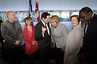March 2013 File Photo - Jean-Francois Lisee, Michael Appplebaum, Pauline Marois, Quebec Premier , Maka Kotto, Minister of Culture and Communications , Quebec and others