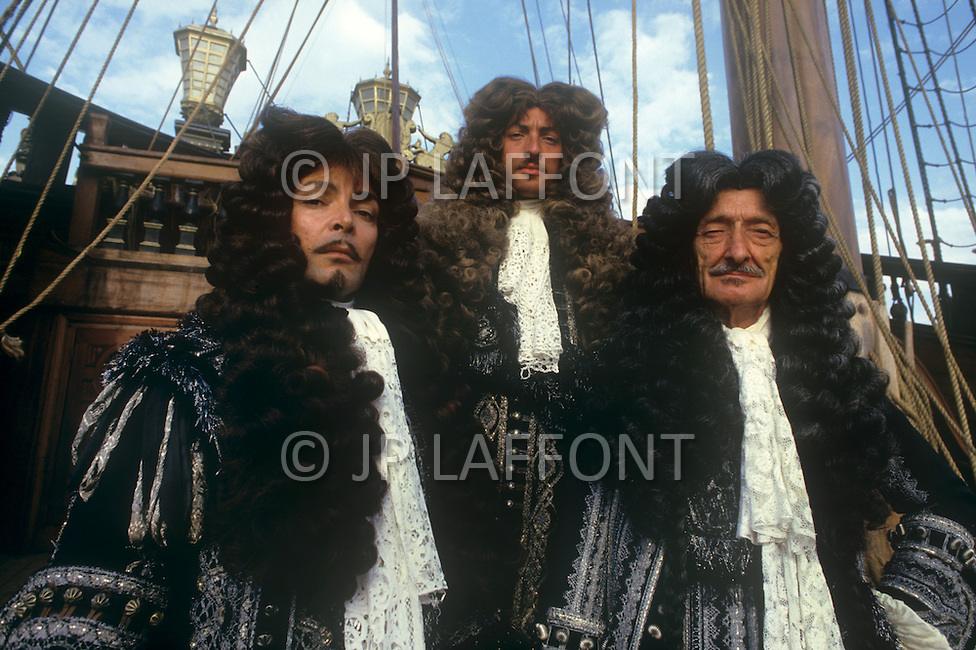 April, 1985. El Kantaoui, Tunisia. Anthony Peck, American actor, son of Gregory Peck, on the set of the film The Pirates, directed by Roman Polanski.