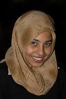 Benghazi, Libya, North Africa -- Libyan Teenage Girl, Aya Salim Saleem.