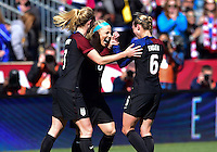 Chester, Pa. - April 10, 2016: The U.S. Women's National team go up 3-0 over Colombia in second half action from a Julie Johnston goal during an international friendly match at Talen Energy Stadium.