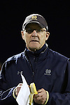 17 October 2014: Notre Dame head coach Bobby Clark (SCO). The Duke University Blue Devils hosted the Notre Dame University Fighting Irish at Koskinen Stadium in Durham, North Carolina in a 2014 NCAA Division I Men's Soccer match. Notre Dame won the game 4-1.