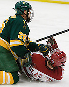 Andrew Himelson (Clarkson - 26), Colin Blackwell (Harvard - 63) - The Harvard University Crimson defeated the visiting Clarkson University Golden Knights 3-2 on Harvard's senior night on Saturday, February 25, 2012, at Bright Hockey Center in Cambridge, Massachusetts.