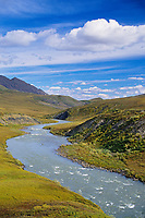 Atigun river flowing into the anwr, a.n.w.r., Arctic National Wildlife Refuge, Brooks range, Arctic Alaska