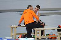 OLYMPICS: SOCHI: Adler Arena, 18-02-2014, Men's 10.000m, Gerard Kemkers (trainer/coach), Sven Kramer (NED), ©photo Martin de Jong