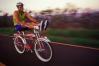 Daredevil bicyclist, Kauai, Hawaii