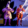 The Snowman<br /> based on Raymond Briggs&rsquo; book <br /> from The Birmingham Repertory Theatre at <br /> Peacock Theatre, London, Great Britain <br /> 25th November 2015<br /> Claire Talbot as Fox <br /> Ami Tollin as Rabbit <br /> <br /> <br /> <br /> Photograph by Elliott Franks <br /> Image licensed to Elliott Franks Photography Services