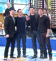 98 Degrees perform on the NBC's