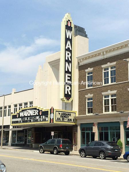 TORRINGTON< CT - 12 June 2015-062115CH1-- Warner Theatre Board of Directors Chair Brian E. Mattiello said he sees a rejuvination in the music and arts in Torrington. Carrie Grace Henderson Republican-American