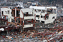 Onagawa, Japan - A photo made available on April 11 shows the entire area damaged by the devastating March 11 earthquake and tsunami that rocked the northern part of Japan. (Photo by Christopher Jue/AFLO) [2331] **ITALY OUT**