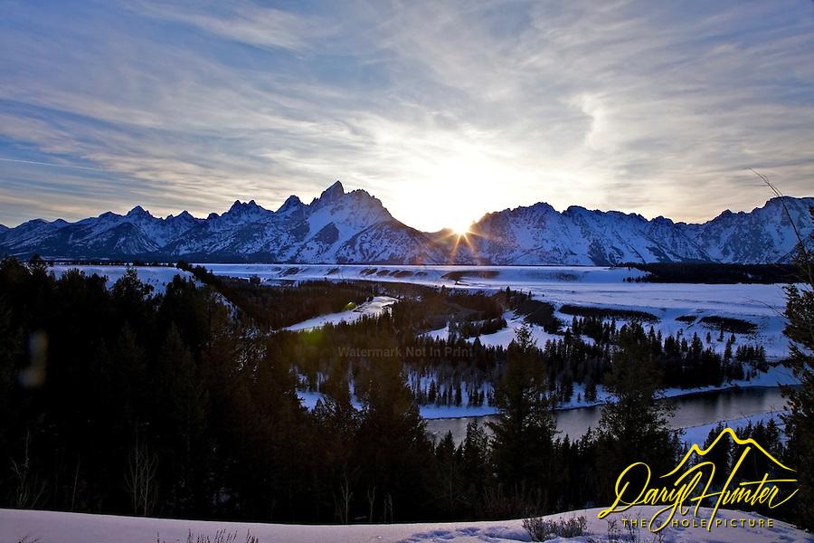 Setting Sun on Grand Teton National Park