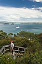 Views and hike on Roberton Island.  Popular swimming beach in the Bay of Islands.
