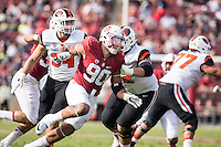Stanford, CA - November 5, 2016: Solomon Thomas during  the Stanford vs Oregon State game at Stanford Stadium Saturday. <br /> <br /> Stanford won 26-15.