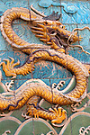 Asia, China, Beijing. Forbidden Palace Dragon Tiles.