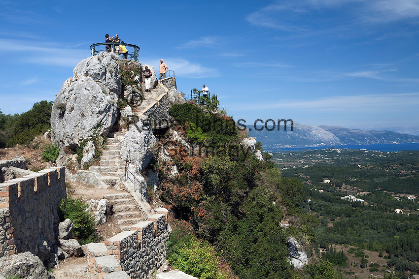 Griechenland, Korfu, Pelekas: Pelekas-Bergspitze, Kaisers ...