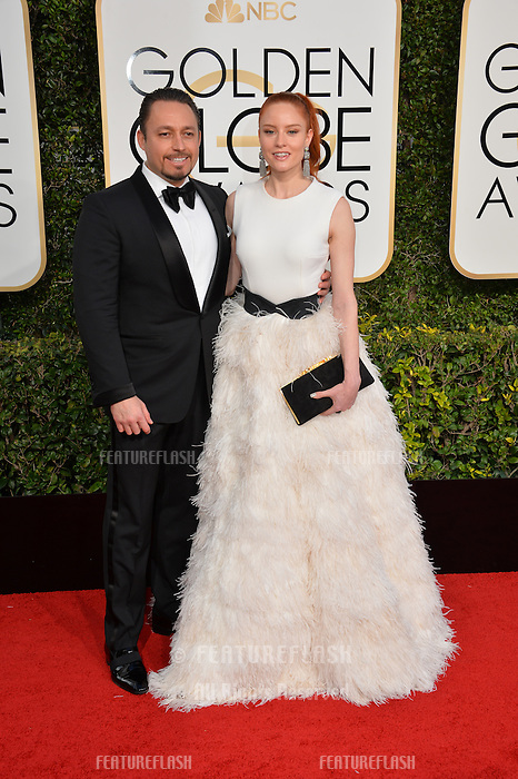 Barbara Meier &amp; Klemens Hallmann at the 74th Golden Globe Awards  at The Beverly Hilton Hotel, Los Angeles USA 8th January  2017<br /> Picture: Paul Smith/Featureflash/SilverHub 0208 004 5359 sales@silverhubmedia.com